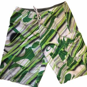 Oakley Green White Black Hybrid Board Shorts